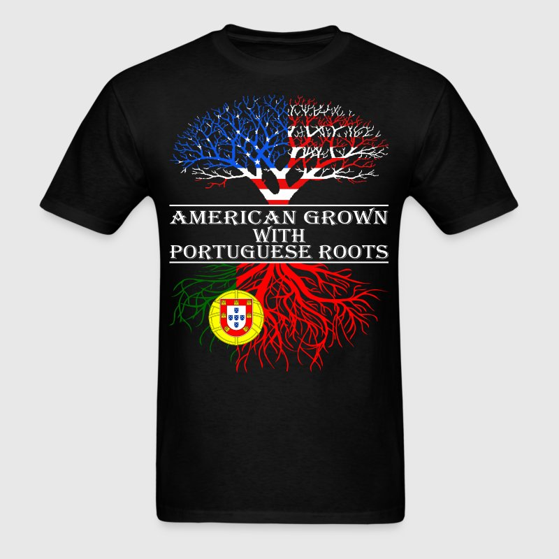American Grown With Portuguese Roots - Men's T-Shirt