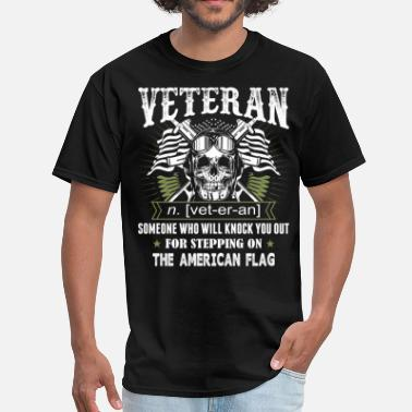 Veterans American Flag Veteran The American Flag - Men's T-Shirt