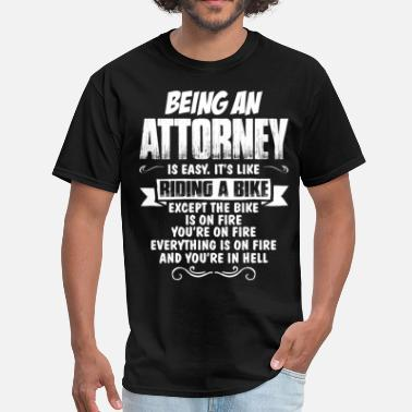 Barrister Being An Attorney... - Men's T-Shirt