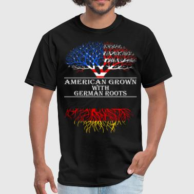 German American American Grown With German Roots - Men's T-Shirt