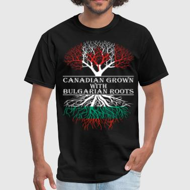Bulgarian Roots Canadian Grown With Bulgarian Roots - Men's T-Shirt