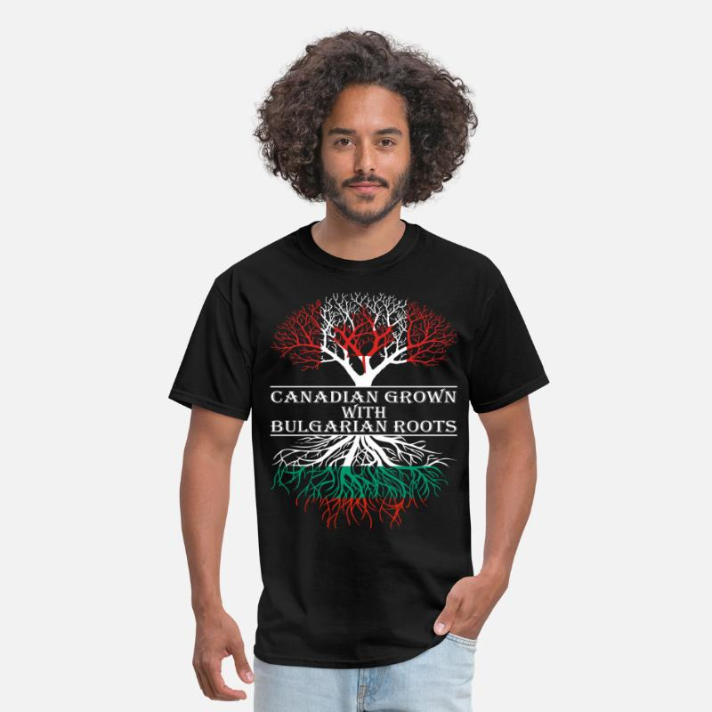 Canada T-Shirts - Canadian Grown With Bulgarian Roots - Men's T-Shirt black