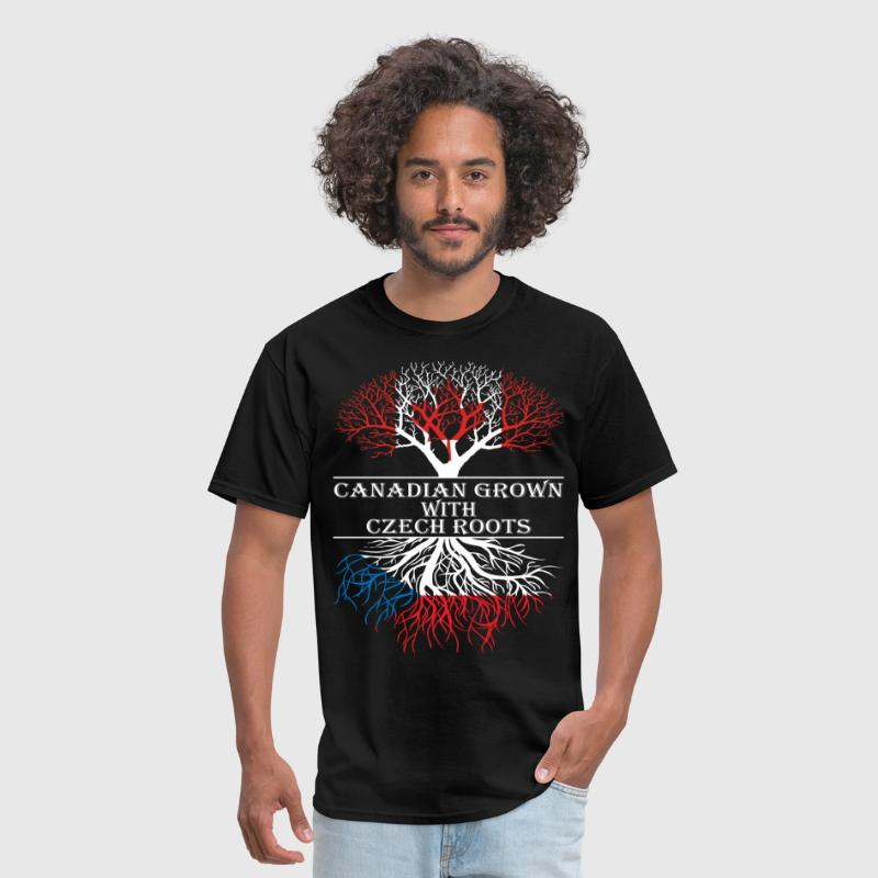 Canadian Grown With Czech Roots - Men's T-Shirt