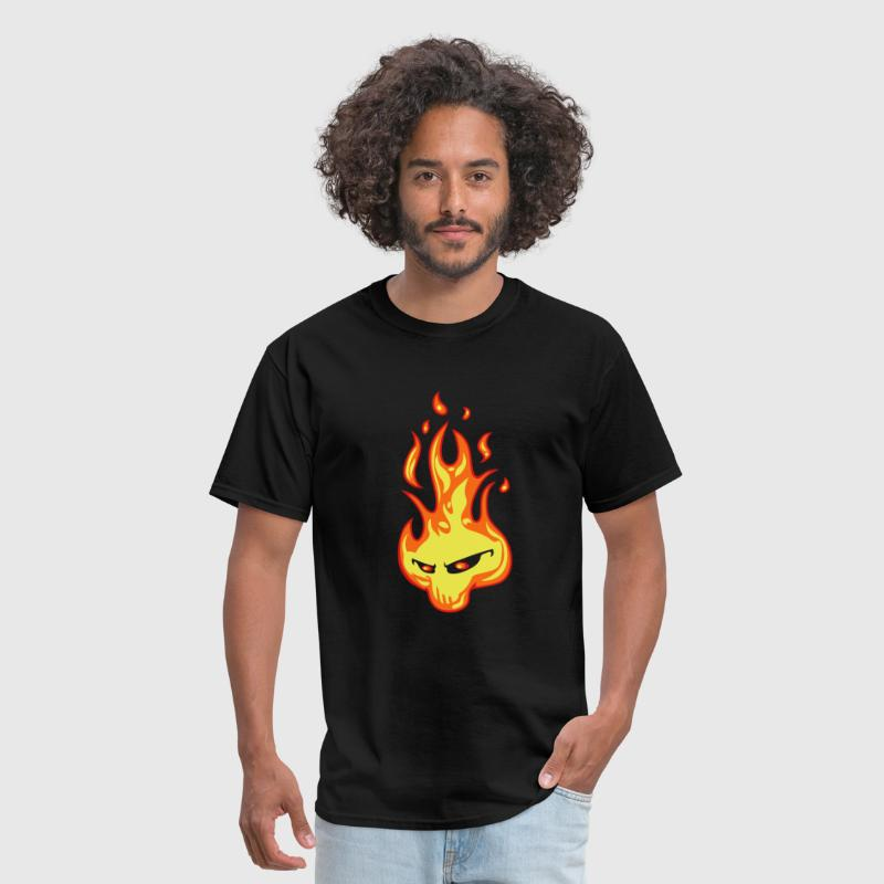 Skull flame - Men's T-Shirt