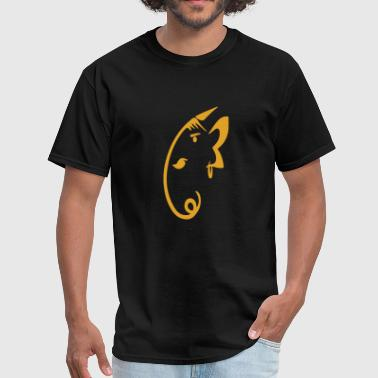 Logo - lord ganesha minimalistic and elegant art - Men's T-Shirt