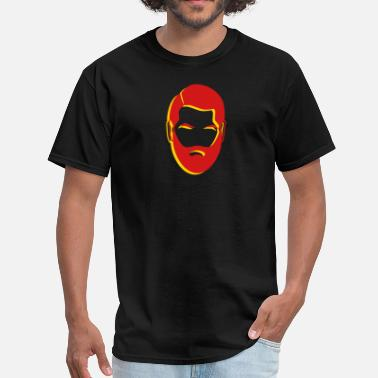 Beards Males 3D man male face with a beard - Men's T-Shirt