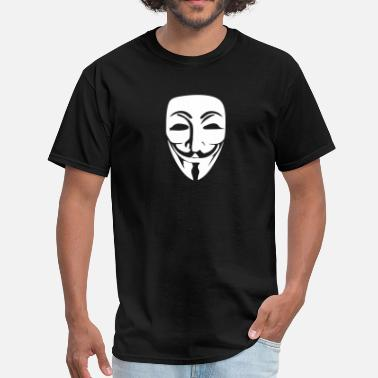 Anonymous Guy Fawkes Mask Anonymous Logo (Guy Fawkes Mask) - Men's T-Shirt