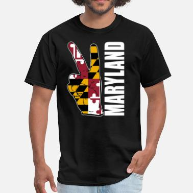 Flag Of Maryland MARYLAND FLAG - Men's T-Shirt