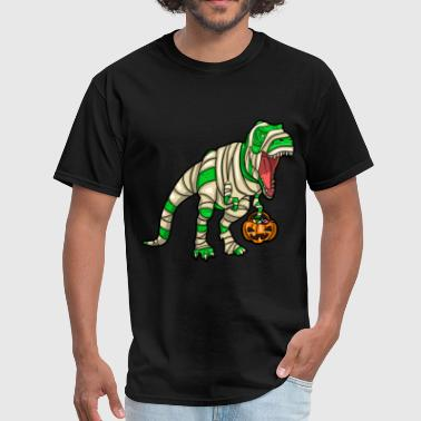 T-bucket Dinosaurs pumpkin Mummy halloween Trex Dino - Men's T-Shirt