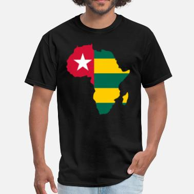 Togo Togo Flag In Africa Map - Men's T-Shirt