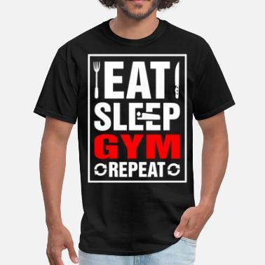 d5180899ec1 Repeat Gym Eat Sleep Gym Repeat - Men  39 s T-Shirt