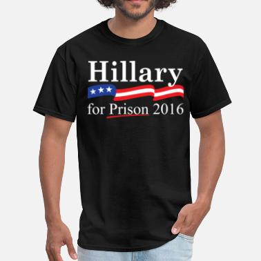 Infowars Hillary for prison 2016 - Men's T-Shirt