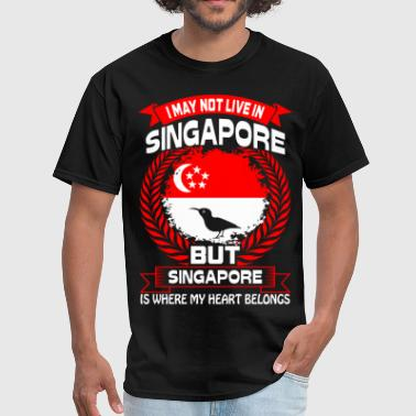 Singapore Is Where My Heart Belongs Country Tshirt - Men's T-Shirt