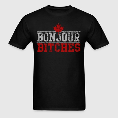 Vintage Bonjour Bitches Canadian - Men's T-Shirt