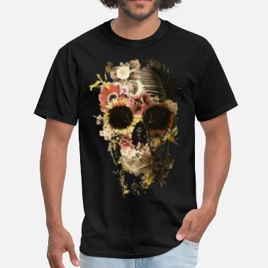 Floral Skull skull flower - Men's T-Shirt