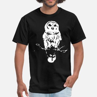Bamboos Bird Owl Grey Organic Clothing Bamboo Bird Owl Art Owl - Men's T-Shirt