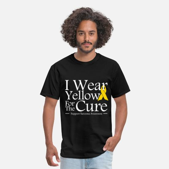 Ribbon T-Shirts - i_wear_yellow_for_the_cure - Men's T-Shirt black