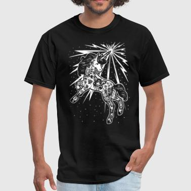 Mine Jokes Electric Unicorn Adult Tee Lowbrow Tattooed Unicor - Men's T-Shirt