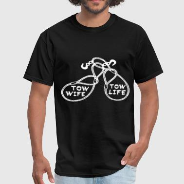 Hot Mechanic tow wife tow life black and white for mens and wom - Men's T-Shirt