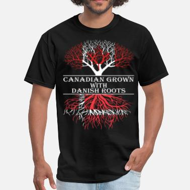 Canadian Roots Canadian Grown With Danish Roots - Men's T-Shirt