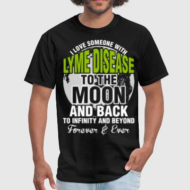 Lyme I Love Someone With Lyme Disease To The Moon - Men's T-Shirt