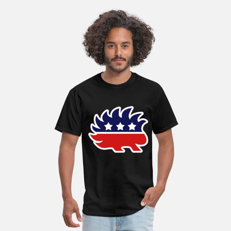 Libertarian T-Shirts - Libertarian Porcupine for dark products - Men's T-Shirt black