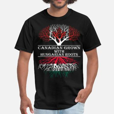 Hungarian Roots Canadian Grown With Hungarian Roots - Men's T-Shirt
