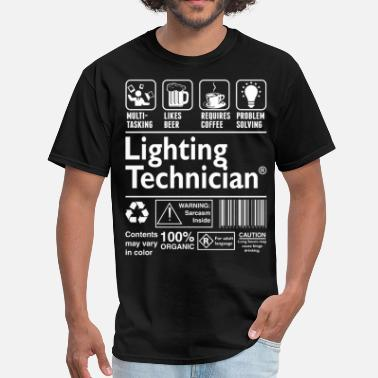 Lighting Technician Lighting Technician Multitasking Beer Coffee - Men's T-Shirt