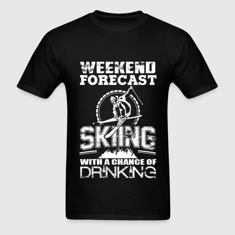 Skiing - Skiing with a chance of drinking - Men's T-Shirt
