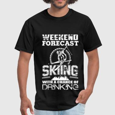 Black Pussy Sport Skiing - Skiing with a chance of drinking - Men's T-Shirt