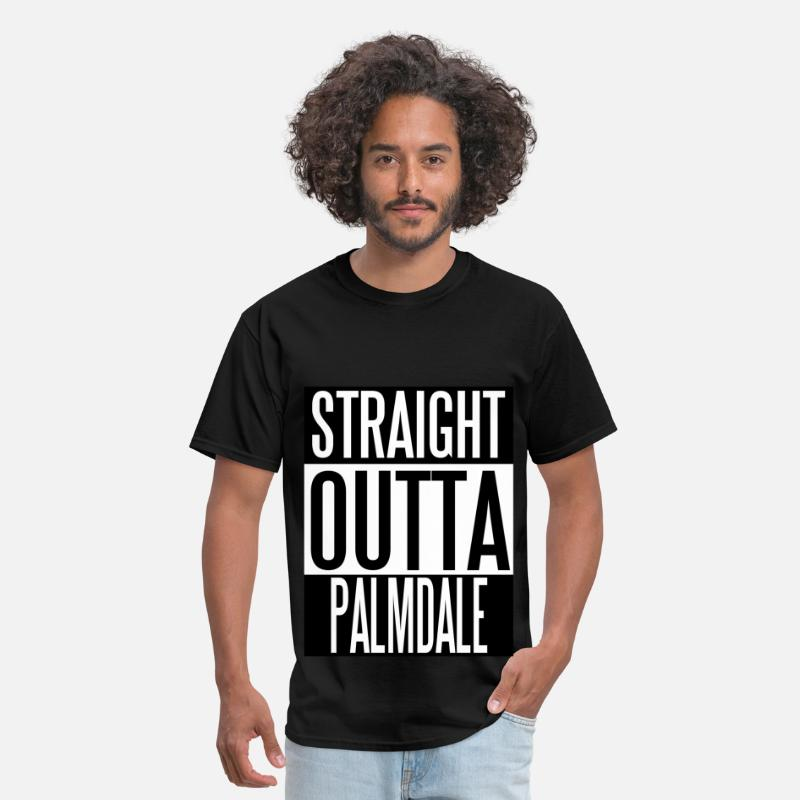 Desert T-Shirts - Straight Outta Palmdale.jpg - Men's T-Shirt black