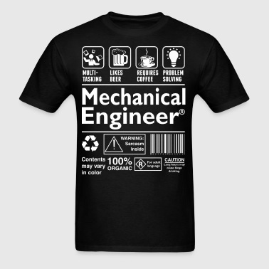 Beer Coffee Problem Solving Mechanical Engineer - Men's T-Shirt