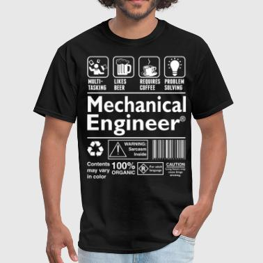 Multi-tasking Ninja Beer Coffee Problem Solving Mechanical Engineer - Men's T-Shirt
