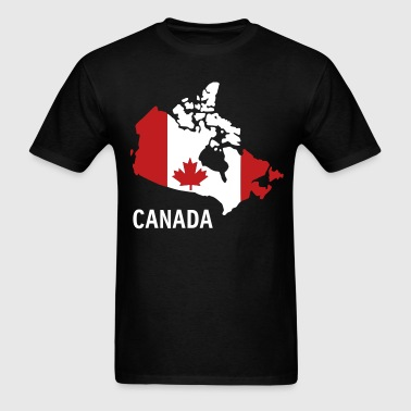 Canada flag map - Men's T-Shirt