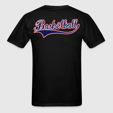 Basketball Swoosh 3 color - Men's T-Shirt