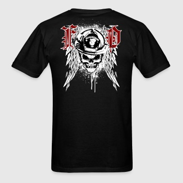 Fire Dept Skull - Men's T-Shirt