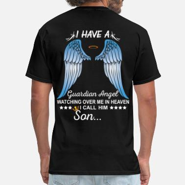 Guardian My Son Is My Guardian Angel - Men's T-Shirt
