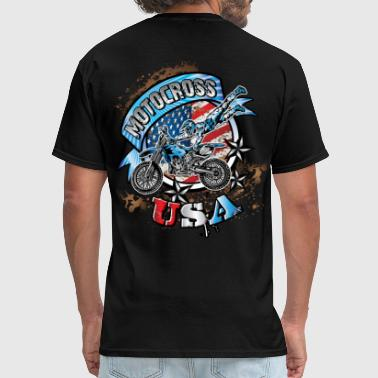 The Freestyle Life Freestyle Dirtbiker USA - Men's T-Shirt