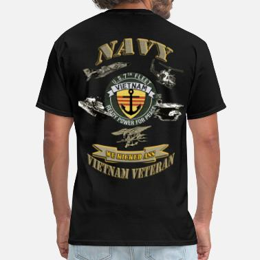 Mekong Delta NAVY ANCHOR VIETNAM BROTHERHOOD FRONT300.png - Men's T-Shirt