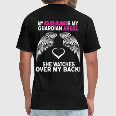 Love My Gram MY GRAM IS MY GUARDIAN ANGEL - Men's T-Shirt