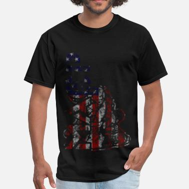 Modern Army Combatives MACP Front USA Flag - Men's T-Shirt