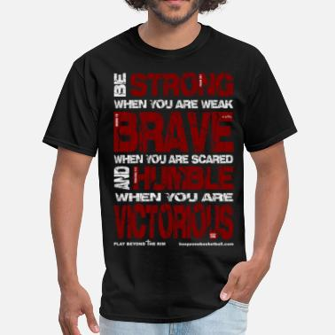 Motivational Sports BeStrong4dark.png - Men's T-Shirt