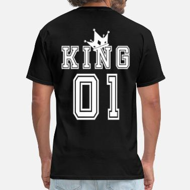 King Valentine's Day Matching Couples King Jersey - Men's T-Shirt