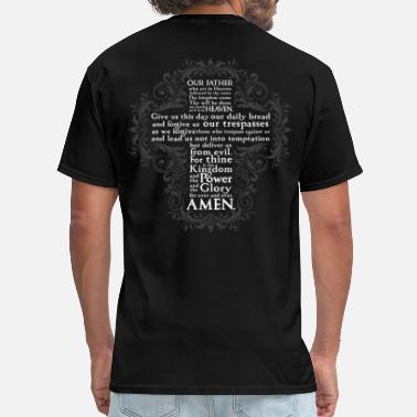 Mens Catholic the Lord's Prayer - Christian - Men's T-Shirt