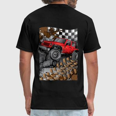 Jeep Wrangler Extreme Red - Men's T-Shirt