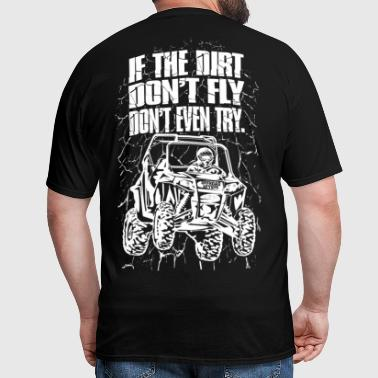 UTV Racer Dirt Fly Wht - Men's T-Shirt