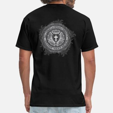 Lutheran Luther Rose - Gothic Black - Christian - Men's T-Shirt