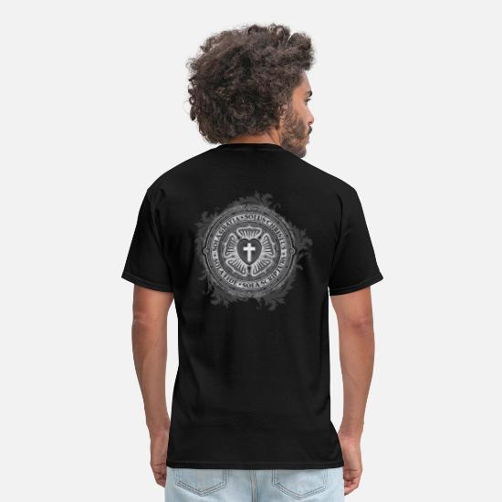 Rose  T-Shirts - Luther Rose - Gothic Black - Christian - Men's T-Shirt black