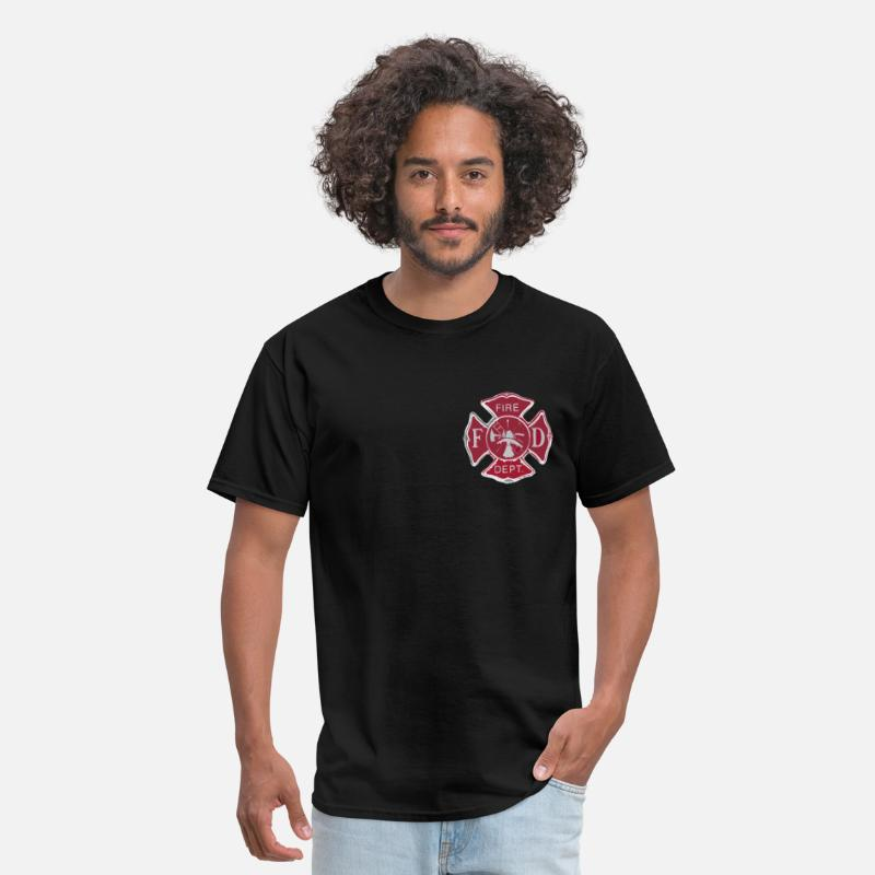 Paramedic T-Shirts - Fire Dept Maltese Cross - Men's T-Shirt black