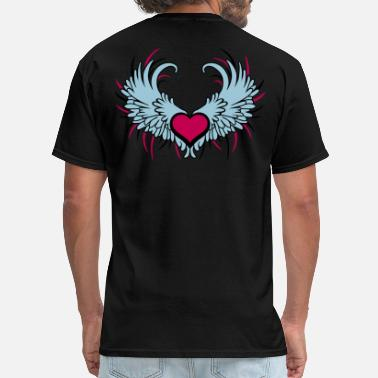 Angelwings Angel Wings with Heart - Men's T-Shirt